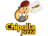 Логотип Chipolla pizza, служба доставки пиццы